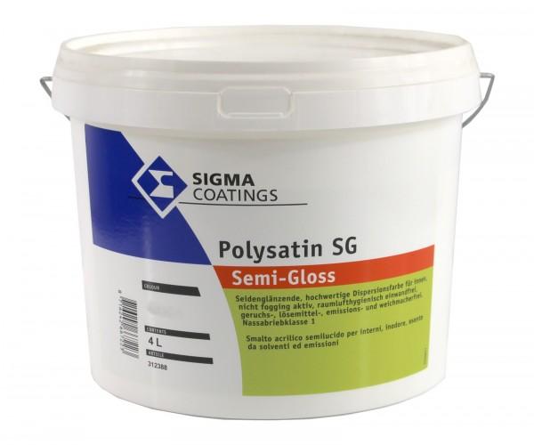 Sigma Polysatin SG - Wandfarbe seidenglänzend weiss D-Kl.2 4 l