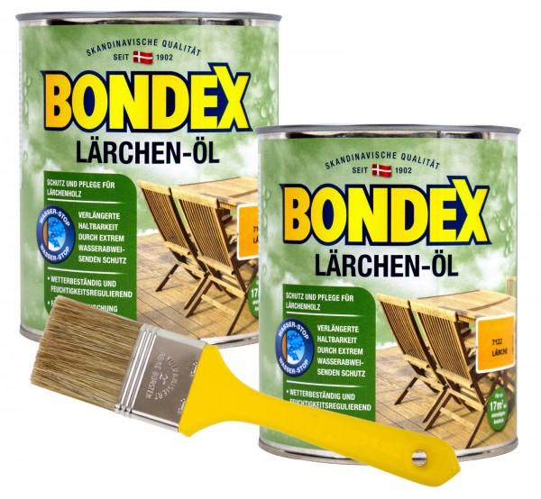 Bondex Lärchenöl 2 x 0,75 l inkl. Pinsel