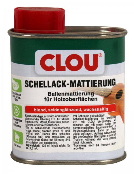 Clou L3 Schellack mattierung blond 125 ml
