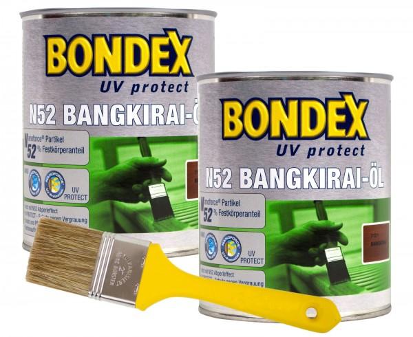 Bondex N52 Bangkiraiöl UV 2 x 0,75 l inkl. Pinsel