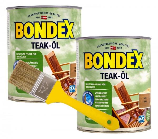 Bondex Teaköl Teak 2 x 0,75 l inkl. Pinsel