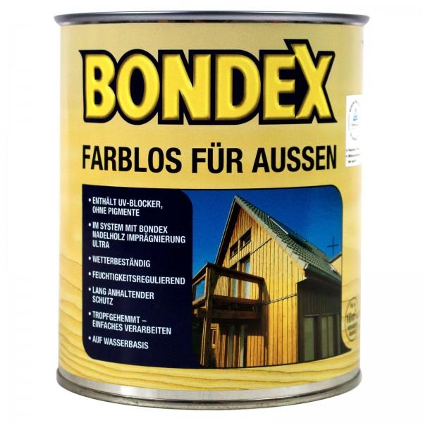 Bondex Farblos für Aussen mit UV Blocker