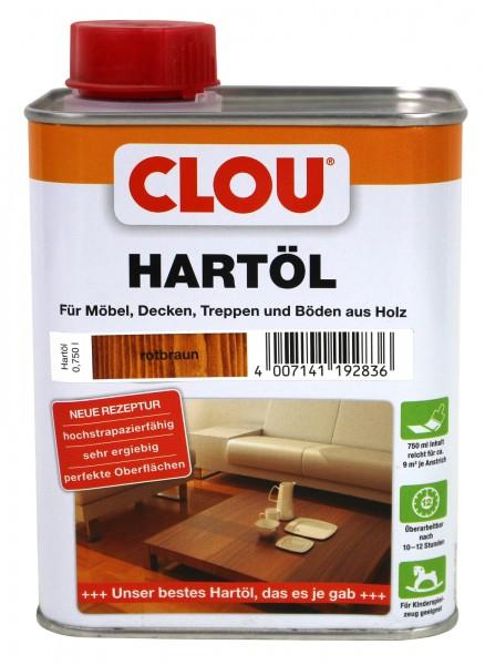 Clou Hartöl rotbraun 750ml