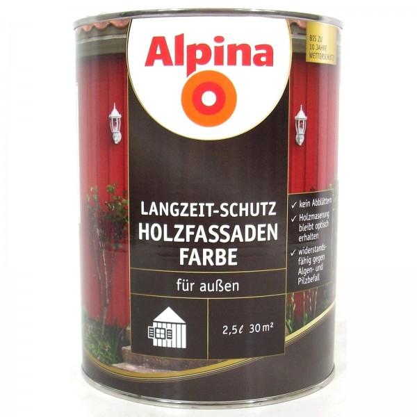 Alpina Holzfassaden Farbe 2,5 l